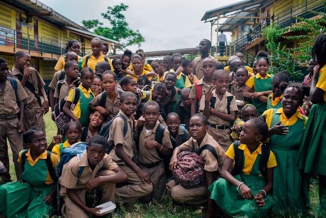School Children in Jamaica