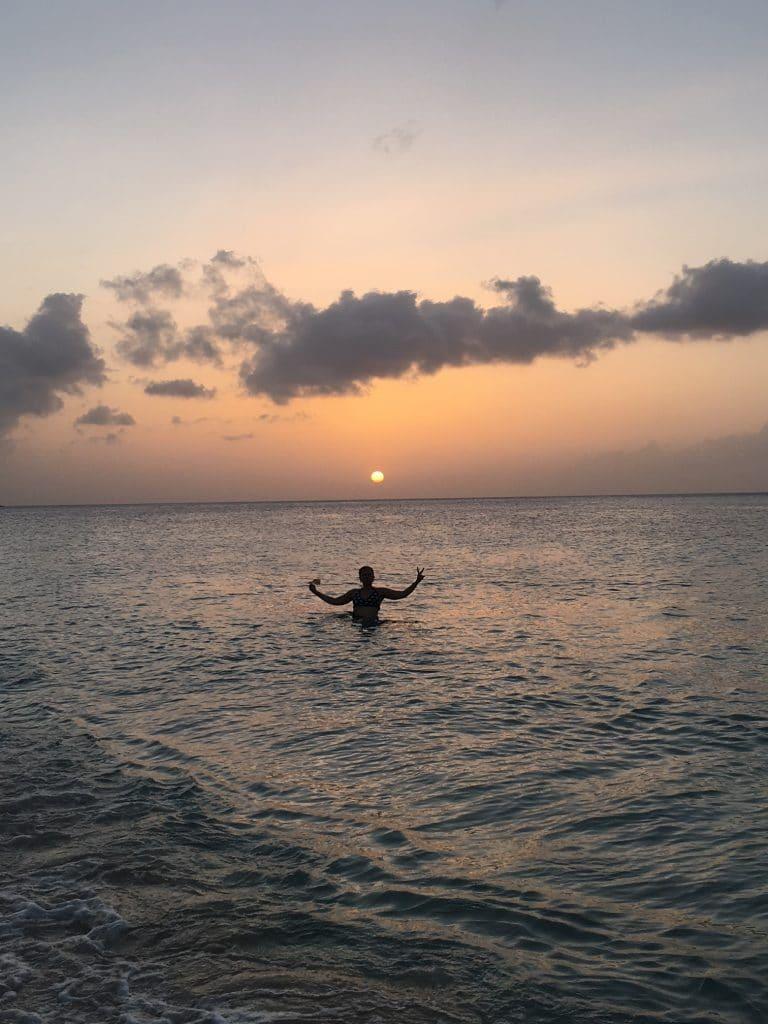 Grand Anse Beach Sun Set