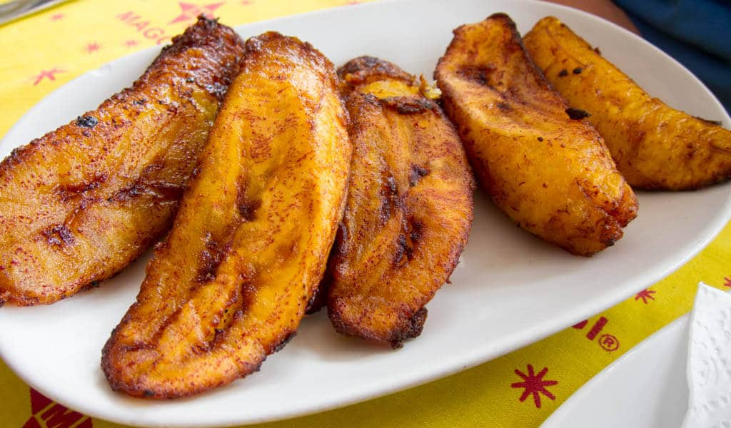 Fried plantains on a plate